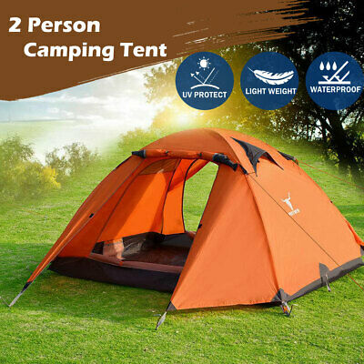 AU89.95 • Buy Portable Outdoor Lightweight Hiking Backpacking Camping Waterproof Tent Orange