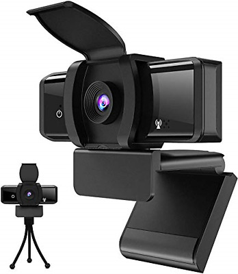Firecore Webcam With Microphone 1080P Computer Camera With Privacy Cover & With • 20.74£