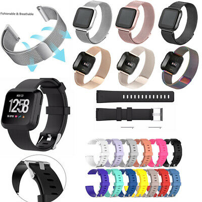 $ CDN10.03 • Buy For Fitbit Versa 1 / Lite Silicone & Stainless Steel Watch Band Wrist Strap Ol