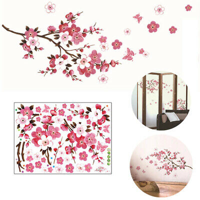 £3.41 • Buy Large Peach Blossom Flower Butterfly Wall Stickers Art Decal Home Room Decor New