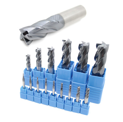Solid Carbide End Mill 4 Flute HRC45 TiAIN Coated Slot Drills - 1mm To 20mm  • 4.89£