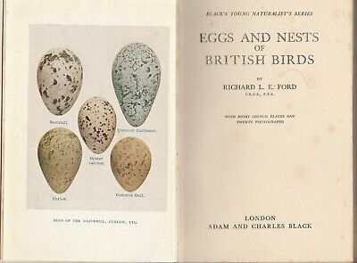 £19.99 • Buy Eggs And Nests Of British Birds - Richard L.E. Ford - 1950 1st Edition Hardback