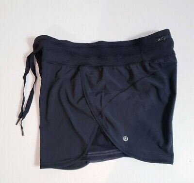$ CDN61.51 • Buy Lululemon Women's Black Athletic Running Zip Pocket On The Back Shorts! Size 12