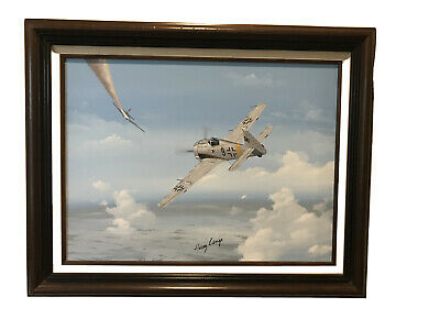 £405.62 • Buy WWII Aviation Spitfire Oil Painting Signed By Heinz Lange