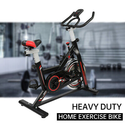 Exercise Spin Bike Gym Bicycle Cycling Cardio Fitness With 8kg Flywheel UK • 149.95£