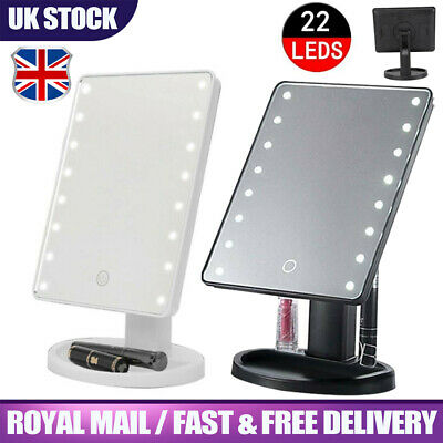 Foldable LED Mirror Illuminated Make Up Mirror Cosmetic Vanity With Light Stand • 8.59£
