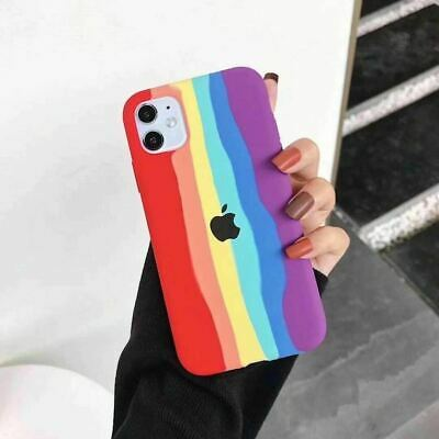 Fashion Rainbow Case Silicone Cover For Apple IPhone 7 8 Plus X XR 11 12 Pro Max • 4.99£