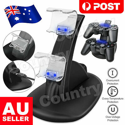 AU12.95 • Buy For PlayStation PS4 Controller Charger Dock Station Dual USB Fast Charging Stand