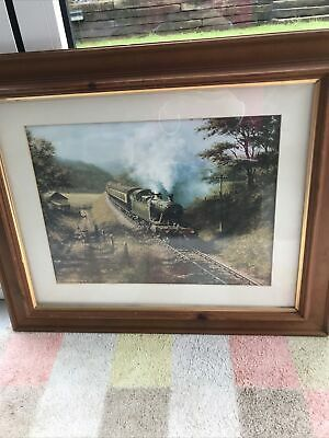 £35 • Buy Don Breckon Steam Train Print 'Racing The Train'  FRAMED Signed 1977