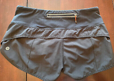 $ CDN47 • Buy Lululemon Speed Short Size 6 Block-It Pocket 2.5  Black
