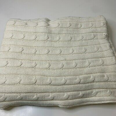 £28.39 • Buy Smith & Johnson Throw Blanket Cream White Chunky Knit 60x44