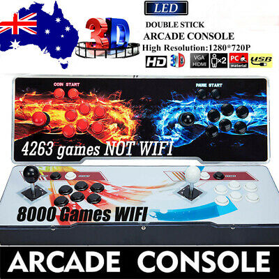 AU259.99 • Buy 2021 Pandora Box 4263/8000 In 1 Video Home Games Double Stick Arcade Console 3D