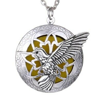 AU18.04 • Buy Hummingbird Pendant Necklace Essential Oil Diffuser Perfume Locket Aromatherapy