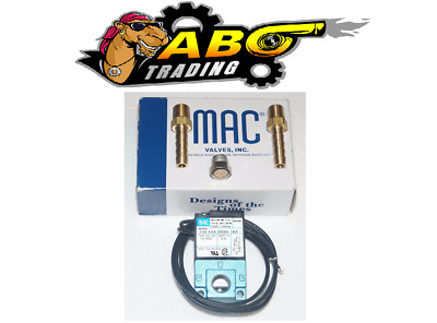 $42.50 • Buy MAC 3 Port 5.4W Electronic Boost Control Solenoid Valve + Barbed Brass Fittings