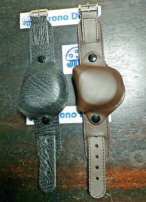 £11.95 • Buy Military Watch Strap & Cover 18mm - Leather Cuff Style - Black/brown Army Forces
