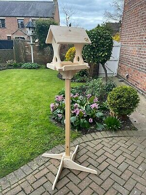£140 • Buy Large Free Standing Bird Table, Handcrafted, Solid Pinewood, Garden Gift