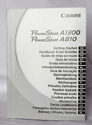 £1.50 • Buy Getting Started Guide For Canon Powershot A810/A1300.