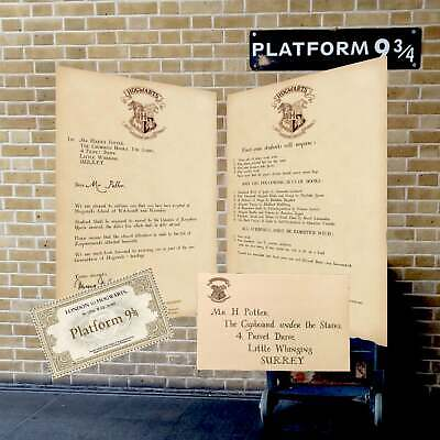 Personalised Harry Potter Acceptance Letter With FREE Hogwarts Express Ticket • 17.95£