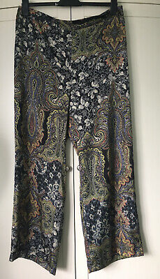River Island Paisley Wide Leg Trousers. Size 18. BNWTs. Silky. RRP £35. Palazzo. • 15.99£