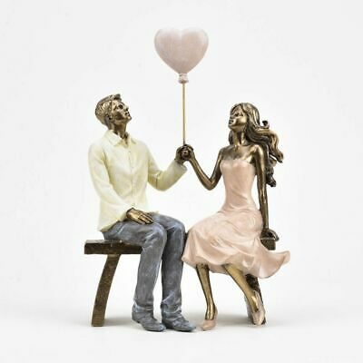 £23.99 • Buy Stunning Couple In Love With Balloon Figure Gift Ornament Figurine 24cm