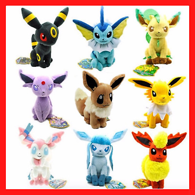 AU13.95 • Buy Rare Pokemon Collectible Plush Doll Character Soft Toy Stuffed Teddy Best Gifts