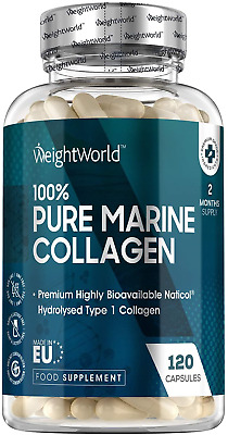 Pure Marine Collagen Capsules - 1170mg - 120 Capsules 2 Month Supply NatiCol For • 17.34£