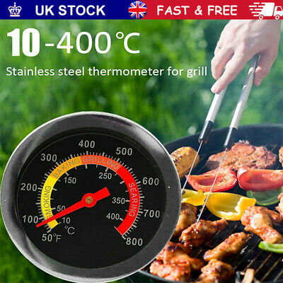 £6.99 • Buy 10-400℃ Barbecue BBQ Temperature Gauge Smoker Grill Stainless Steel Thermometer~