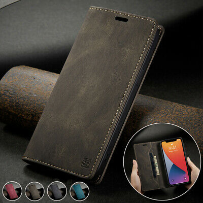 AU7.70 • Buy Magnetic Flip Wallet Case Card Leather Cover For IPhone 12 11 Pro Max XR XS 7 8