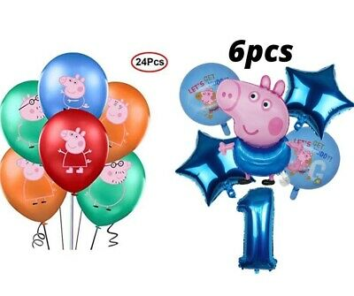 £14.99 • Buy Peppa Pig George Foil Balloons Set&Latex Balloons Kids Birthday Party Decoration