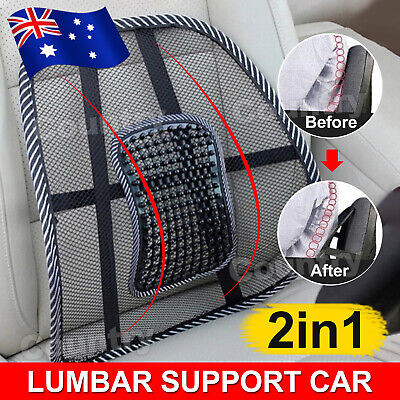 AU13.85 • Buy 2x Mesh Lumbar Back Support Cushion Seat Posture Corrector Car Office Chair Home
