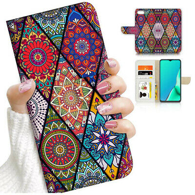 AU12.99 • Buy ( For IPhone 8 Plus ) Wallet Flip Case Cover PB24249 Mandala Abstract