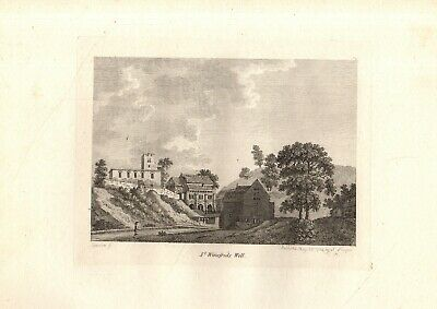 £14.80 • Buy SCARCE 18th CENTURY 'GROSE' HAND-CUT COPPERPLATE PRINT- St WINIFRED'S WELL,FLINT