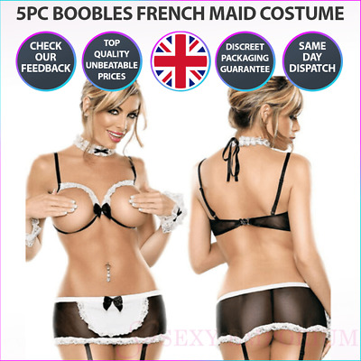£8.99 • Buy Sexy Lingerie Women's Costume SM Cosplay Uniform French Maid Outfit Fancy Dress