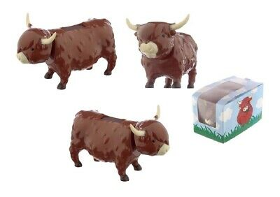£4.75 • Buy Highland Coo Solar Powered Novelty Cow Bobblehead Home Office Car Brand New