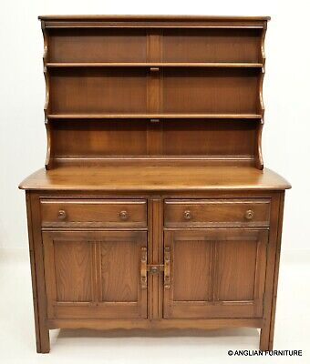 £527 • Buy Ercol Dresser With Drawers, Shelves And Cupboard Golden Dawn FREE UK Delivery
