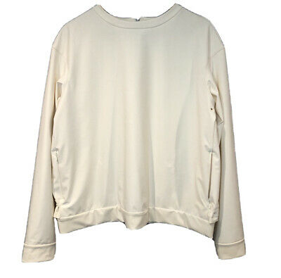 $ CDN90.39 • Buy LULULEMON Departure Top Pullover Softshell Ivory Women's 12 Gathered Back Vented