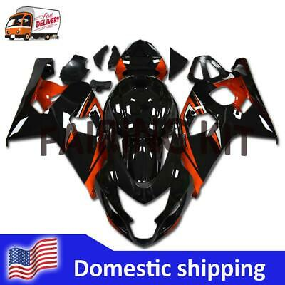 $569.99 • Buy FK Injection Glossy Black Orange Fairing Fit For Suzuki 04-05 GSXR 600 750 A011