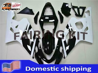 $469.99 • Buy FK Injection White Black ABS Fairing Fit For Suzuki 2004 2005 GSXR 600 750 A034