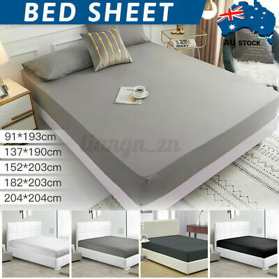 AU20.49 • Buy 2000TC Ultra Soft Deep Fitted Sheet Set Pillowcases Single/Double/Queen/King Bed