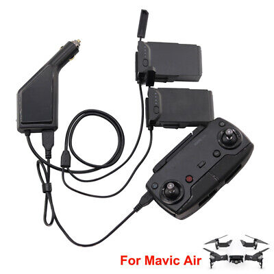AU36.99 • Buy 3in1 Battery Car Charger - USB Port Phone Remote Controller For DJI Mavic Air