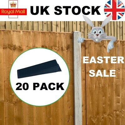 £8.75 • Buy 20 X ANTI-RATTLE FENCE PANEL SECURITY CLIPS WEDGES GRIPS STOPS RATTLING FENCES