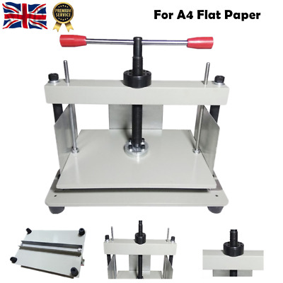 A4 Flat Paper Press Machine Manual Book Flattening Nipping Machine For Invoices • 125£