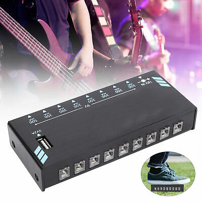 $ CDN62.37 • Buy Guitar Effect Pedal Power Supply Single Effector Isolated Output LED Light 500mA