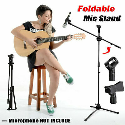 £9.98 • Buy Adjustable Microphone Stand Boom Arm Live Broadcast Mic Holder With 2 Free Clips