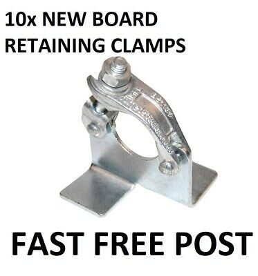 £39.99 • Buy 10 X Scaffolding Scaffold Fittings BOARD RETAINING Couplers Clamps FREE DELIVERY