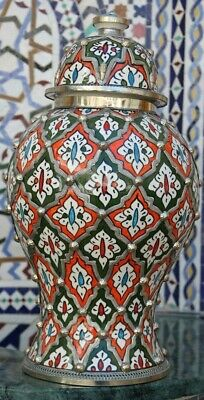 £353.29 • Buy Moroccan Ceramic Large Vases Handmade Pottery Colorful Decorative