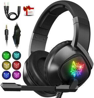 AU27.99 • Buy Gaming PC Computer Headset Noise-Cancel Mic 7.1 Surround Sound RGB Headphone AU