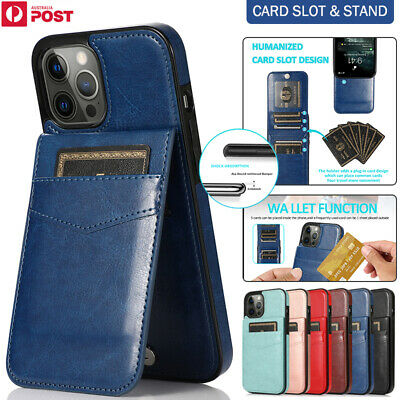 AU14.99 • Buy For IPhone 12 11 Pro Max Mini XR X/XS SE/8/7 Plus Case Leather Wallet Card Cover