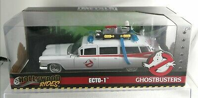 Hollywood Rides 1/24 Ghostbusters Ecto -1  99731 Metals Die Cast Collectors NEW • 39.99£