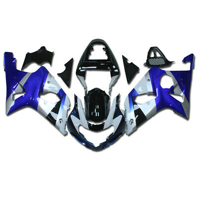 $449.99 • Buy FK Injection White Blue Black ABS Fairing Fit For Suzuki 00-02 GSXR 1000 A003
